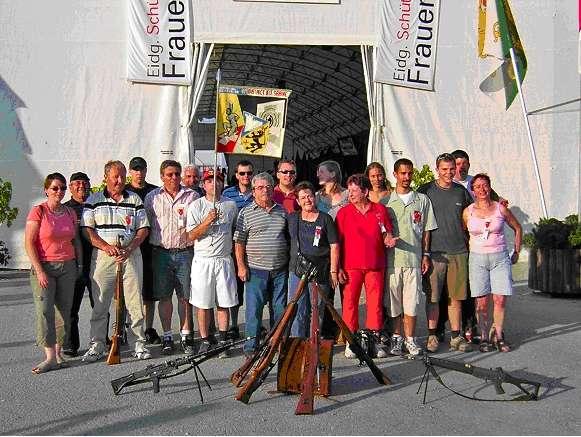 La société de Tir de Ponthaux-Nierlet au Tir Fédéral à Frauenfeld en 2005